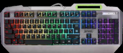 НОВИНКА. Проводная игровая клавиатура Stainless steel GK-150DL RU,RGB подсветка, 9 режимов