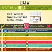 Льняное масло Омега 3-6-9 в капсулах Инлайф   INLIFE Flaxseed Oil Omega 3 6 9 fatty acids Supplement