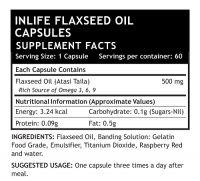 Льняное масло Омега 3-6-9 в капсулах Инлайф | INLIFE Flaxseed Oil Omega 3 6 9 fatty acids Supplement