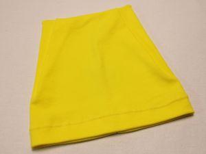 Шапка трикотажная, размер 44-46 (20*19 см), цвет желтый (1 уп = 6 шт), Арт. ПВ0051