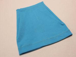 Шапка трикотажная, размер 44-46 (20*19 см), цвет голубой (1 уп = 6 шт), Арт. ПВ0052