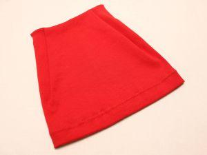 Шапка трикотажная, размер 44-46 (20*19 см), цвет алый (1 уп = 6 шт), Арт. ПВ0053