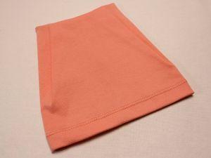 Шапка трикотажная, размер 44-46 (20*19 см), цвет персиковый (1 уп = 6 шт), Арт. ПВ0054