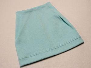 Шапка трикотажная, размер 44-46 (20*19 см), цвет бирюзовый (1 уп = 6 шт), Арт. ПВ0055