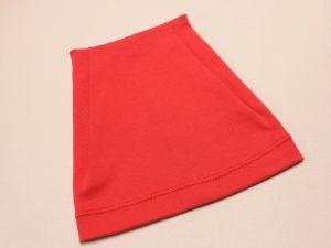 Шапка трикотажная, размер 44-46 (20*19 см), цвет красный (1 уп = 6 шт), Арт. ПВ0057