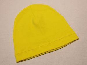 Шапка трикотажная, размер 44-46 (20*19 см), цвет желтый (1 уп = 6 шт), Арт. ПВ0060