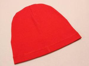Шапка трикотажная, размер 44-46 (20*19 см), цвет алый (1 уп = 6 шт), Арт. ПВ0062