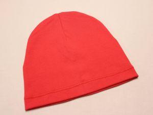 Шапка трикотажная, размер 44-46 (20*19 см), цвет красный (1 уп = 6 шт), Арт. ПВ0066
