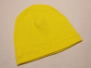 `Шапка трикотажная, размер 44-46 (20*19 см), цвет желтый, Арт. Р-ПВ0060