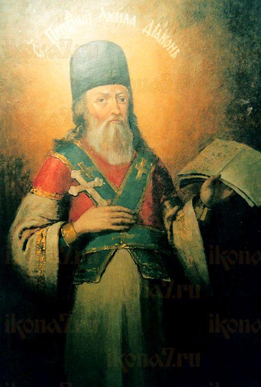 Ахила Печерский  (рукописная икона)