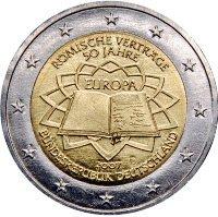 Римский договор 2 евро Германия 2007 D