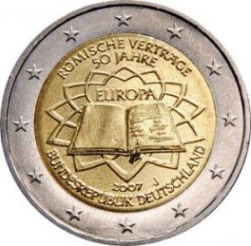 Римский договор 2 евро Германия 2007 J