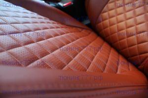 """Чехлы на сиденья, экокожа, строчка """"Ромб"""", цвет на выбор"""