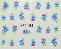 Водная наклейка для дизайна ногтей XF 1158
