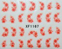 Водная наклейка для дизайна ногтей XF 1167