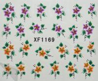 Водная наклейка для дизайна ногтей XF 1169