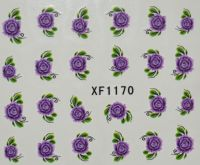 Водная наклейка для дизайна ногтей XF 1170