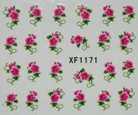 Водная наклейка для дизайна ногтей XF 1171