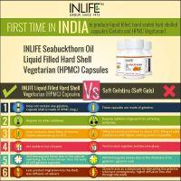 Облепиховое масло Омега 3-6-7-9 в капсулах Инлайф | INLIFE Sea Buckthorn Oil Omega 3 6 7 9 fatty acids Supplement
