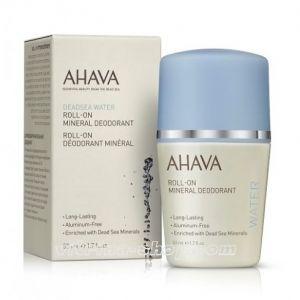 AHAVA Дезодорант минеральный шариковый для женщин Deadsea Water, 50 мл.
