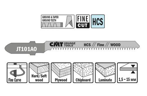 Пилки для лобзика (дерево/чистовой рез) к-т из 5шт. CMT