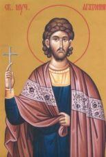 Агафоник Никомидийский  (рукописная икона)