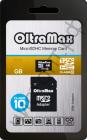 Карта памяти micro SDHC 16GB OltraMax Class 10 с SD адаптер