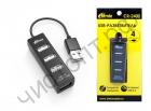 USB HUB USB-хаб RITMIX CR-2402, черный,  USB 2.0 разветвитель на 4 порта