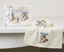 "Комплект махровых салфеток  для детей ""KARNA""  BAMBINO 30*50 - 2шт.  Арт.2135-1"