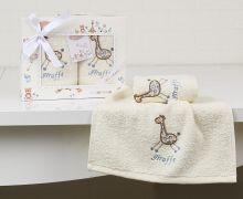 "Комплект махровых салфеток  для детей ""KARNA""  BAMBINO 30*50 - 2шт.  Арт.2135-2"