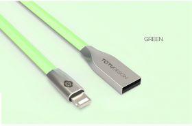 TOTU USB зарядный  кабель 2.4A  для iPhone 7, 5S ,SE , 6, 6S,  Ipad Mini Air + передача  данных