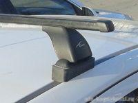 Багажник на крышу BMW 5-serie E39, Lux, прямоугольные стальные дуги