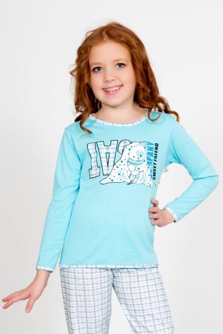 """Детская пижама """"Яна голубая"""""""