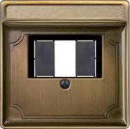 Накладка акустической розетки Merten System Design Античная латунь