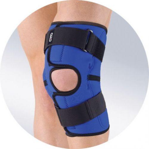 Бандаж из неопрена с металлическими шарнирами разъемный, наколенник, ограничитель на коленный сустав NKN 149 (ORTO)
