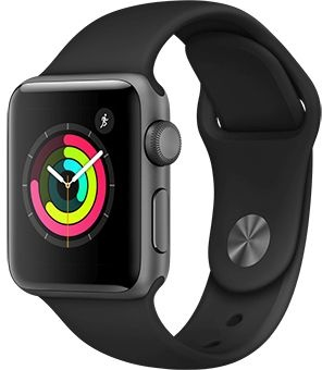 Apple Watch Series 3 38mm GPS Black