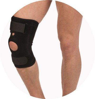 Бандаж на колено с ребрами жесткости из неопрена, наколенник, ограничитель на коленный сустав Тривес Т-8512