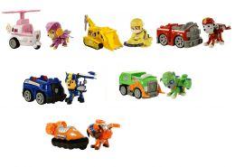 Большой набор из 6-и спасателей с машинками (Гонщик, Скай, Крепыш, Зума, Маршал, Роки) (Щенячий патруль)