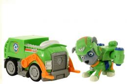 Фигурка Роки на машинке мусоровоз с музыкой и светом (Щенячий патруль)
