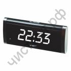 Часы  эл. сетев. VST730-6 бел.цифры
