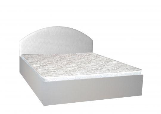Кровать Илона-2 с декором экокожей