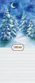 "Фон ""Winter night"" 3,5x1,5 м"