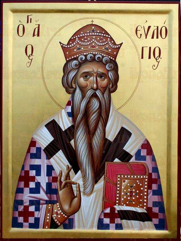 Евлогий Александрийский  (рукописная икона)