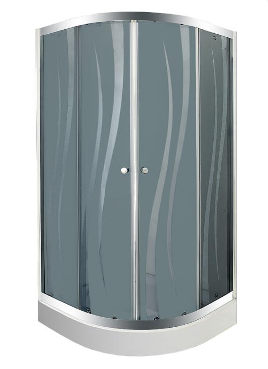Душевой уголок с поддоном BYON 802  RUNDA 80x80