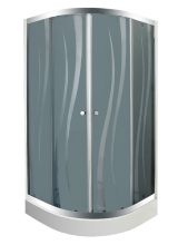 """Душевой уголок с поддоном BYON (802)  """"RUNDA""""  90x90x195"""