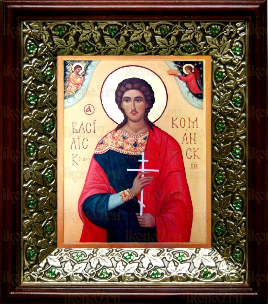 Василиск Команский (21х24), киот со стразами