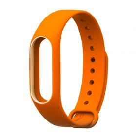 Ремешок для браслета Xiaomi Mi Band 2 оранжевый с белым