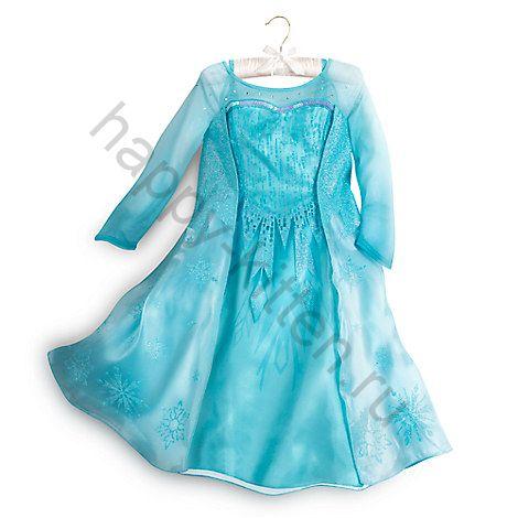Платье Эльзы Frozen  5/6 лет