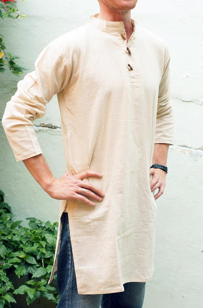 Мужские индийские курты из органического хлопка (отправка из Индии)