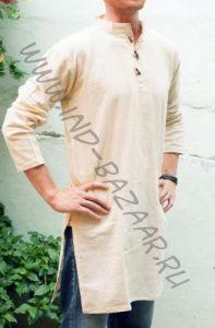 Мужские индийские курты из органического хлопка